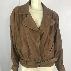 Womens Medium  Brown Motorcyle Leather Jacket